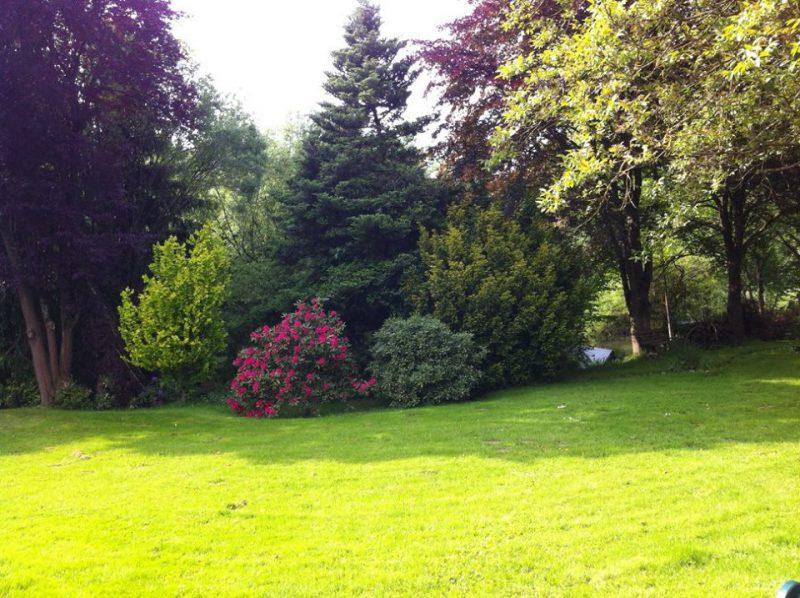 Garten hinter dem Wohnhaus der Familie Vasters